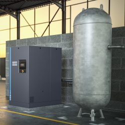 GA 22+ FF. Oil-injected screw compressor with built-in refrigereant dryer.Cover image